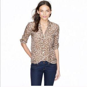 J.Crew Perfect Shirt in Leopard